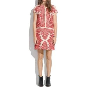 Madewell Silk Bandana Print Dress